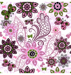 spring motley pattern vector image