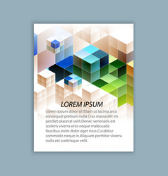 template brochure design vector image vector image