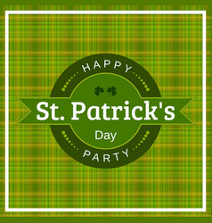 Typographical design for st patricks day vector