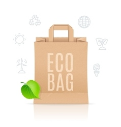 Paper bag eco sale concept vector