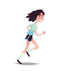 Teen girl running vector