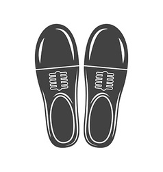 A pair of man classic shoes black icon logo vector