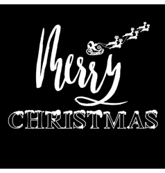 Classic lettering design for a christmas greetings vector