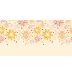 Warm stars horizontal seamless pattern background vector