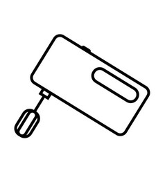 Thin line mixer icon vector