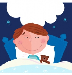 boy sleeping vector image