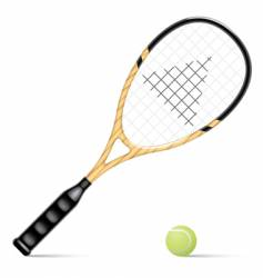 racket and a tennis ball vector image