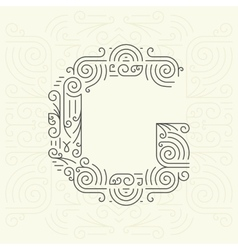 Letter g golden monogram design element vector
