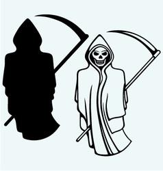 Terrible death with a scythe vector image