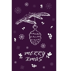 Marry christmas card vector