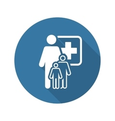 Pediatrics and medical services icon flat design vector
