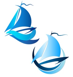 Yacht symbol vector