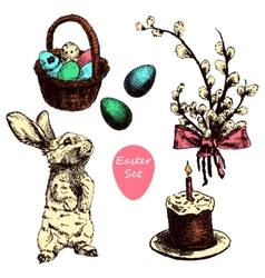 Easter hand drawn1 vector