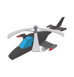 Military helicopter icon cartoon style vector