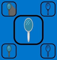 Mirror icons set 2 vector image