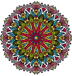 Beautiful mandala hindu symbol vector