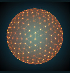 abstract mesh sphere constructed vector image vector image
