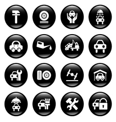 auto service icons vector image vector image