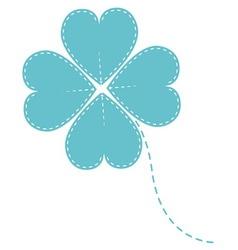 blue clover four leaf vector image