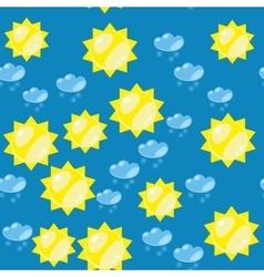 Cartoon sun and snow seamless texture 637 vector image vector image