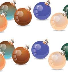 Christmas balls christmas decorations vector