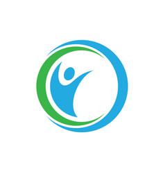 circle human logo image vector image vector image