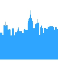 City Skylines Silhouette Background vector image vector image