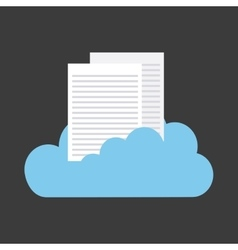 Cloud and document icon cloud computing design vector