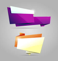 Colorful origami banner vector