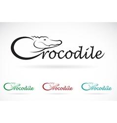 Crocodile text vector