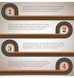 Design template with retro lines vector image