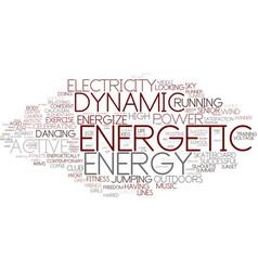 Energetic word cloud concept vector