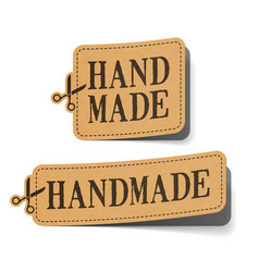 Handmade label vector