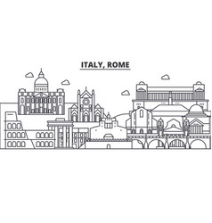 italy rome architecture line skyline vector image