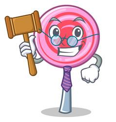judge cute lollipop character cartoon vector image vector image