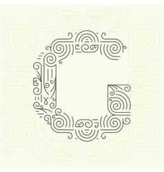 Letter G Golden Monogram Design element vector image vector image