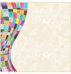 Marker drawing abstract background vector