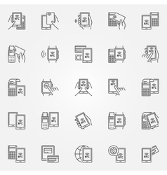 Nfc payment icons vector