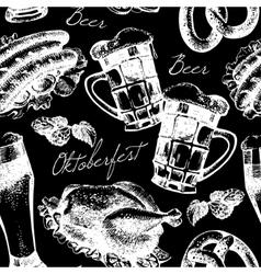 Oktoberfest vintage seamless pattern vector image vector image