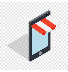 online shopping from phone isometric icon vector image