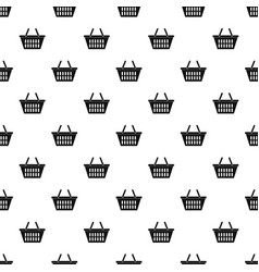 Plastic shopping basket pattern vector