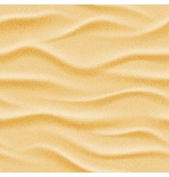 Realistic seamless beach sea sand vector