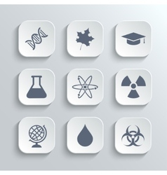 Science icons set - white app buttons vector image vector image