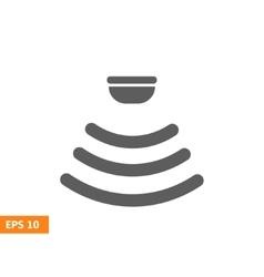 Sensor waves signal icon vector