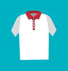 shirt fashion isolated icon vector image vector image