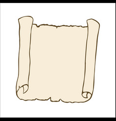 Sketch of an ancient scroll vector