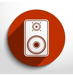 Sub woofer web icon vector