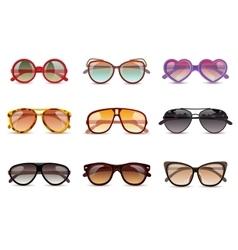 Sunglasses realistic set vector