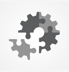 The final piece of puzzle vector