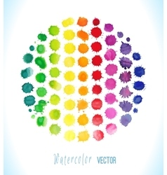 Watercolor splashes isolated vector image vector image
